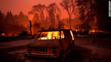 Cell phone videos show drivers fleeing fire