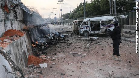Car bombings in Mogadishu kill at least 30 people, police say