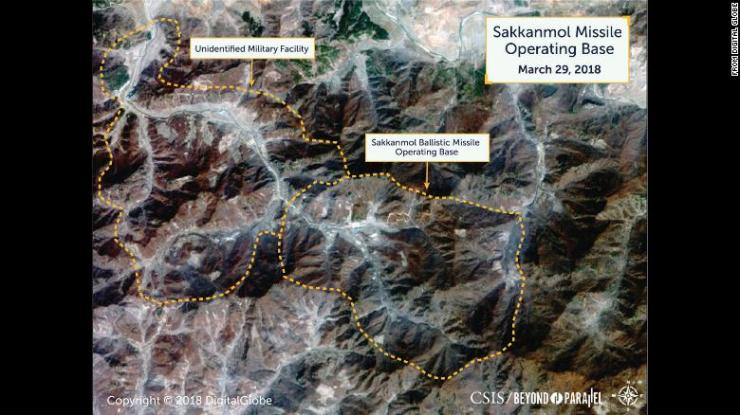 Overview of the Sakkanmol Missile Operating Base and adjacent unidentified military facility, March 29, 2018.