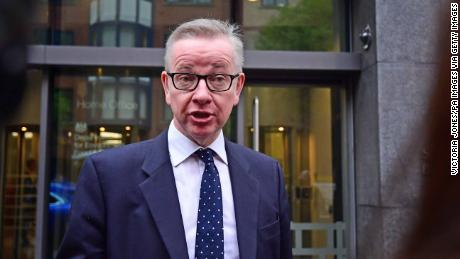 Environment Secretary Michael Gove speaks Friday outside the Department for Environment, Food and Rural Affairs in London.