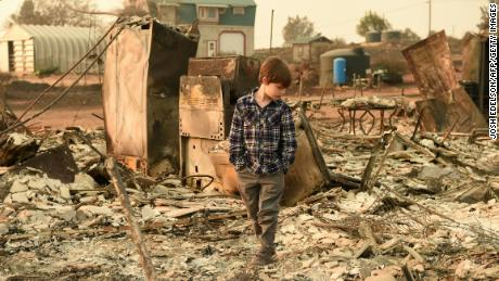Searching for remains from the California wildfires before the rainfall