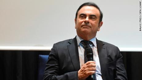 Carlos Ghosn, head of the Renault-Nissan Alliance,  attends a conference in Beirut in 2016.