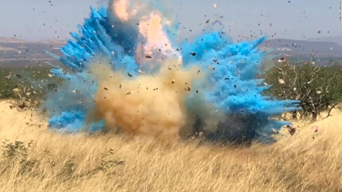 Gender reveal fire: Officials release video that shows moment when 47,000-acre wildfire started - CNN