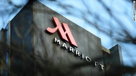 This photo taken on January 11, 2018 shows a Marriott logo in Hangzhou in China's Zhejiang province. Authorities in China have shut down Marriott's local website for a week after the US hotel giant mistakenly listed Chinese-claimed regions such as Tibet and Hong Kong as separate countries. / AFP PHOTO / - / China OUT        (Photo credit should read -/AFP/Getty Images)