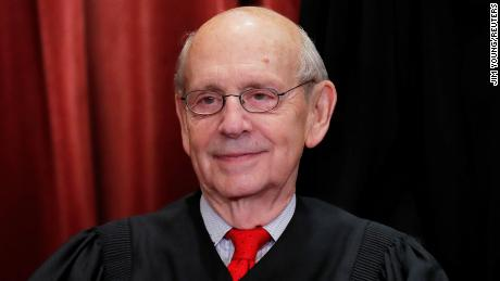 U.S. Supreme Court Associate Justice Stephen Breyer is seen during a group portrait session for the new full court at the Supreme Court on Nov. 30, 2018, in Washington, DC.