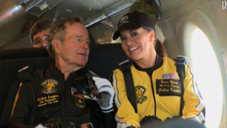 Robin Meade George H.W. Bush skydiving