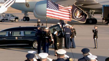 president george hw bush casket arrival nr vpx_00004326