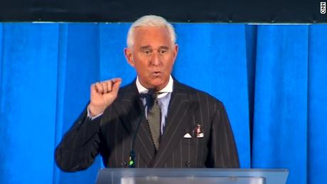 Roger Stone speaks at the The American Priority Conference on Thursday, December 6.