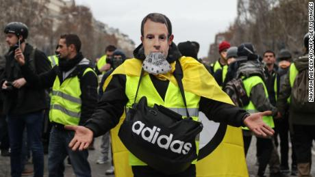 Tax rises, yellow vests and a gold desk: Emmanuel Macron's humbling year