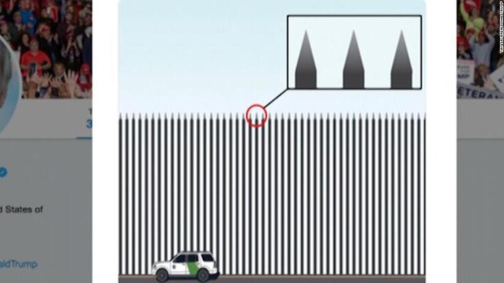 Steel slat border design
