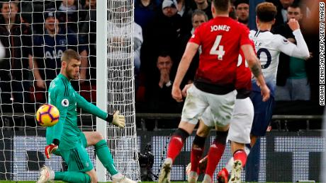 Whether he stopped the ball with his hands or his feet, there was just no getting past De Gea.