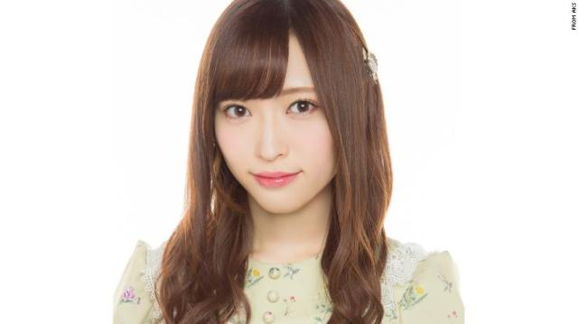 Maho Yamaguchi, a member of the Japanese pop group NGT48