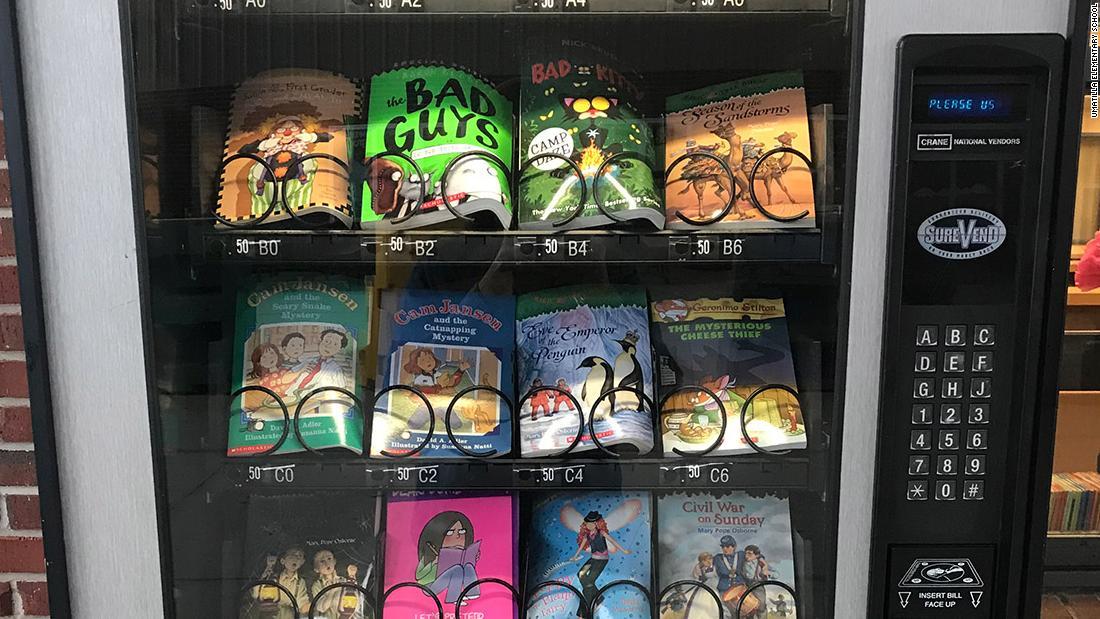Elementary School Installs Vending Machine Full Of Books Cnn
