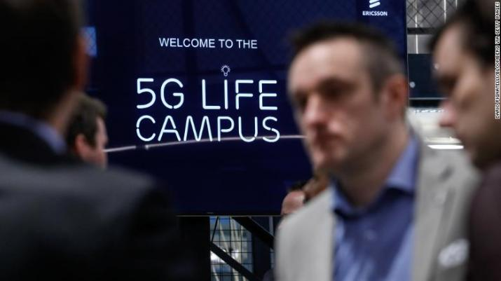 """A 5G-themed Ericsson campus in Belgium.  Last month, the company posted its first annual sales growth since 2013, crediting it to """"increased 5G demand"""" among US operators."""