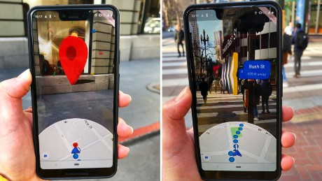 Google is testing new AR features for its Maps app.
