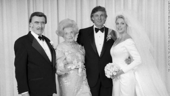 Donald Trump, Marla Maples with parents Fred and Mary Trump. (Photo by The LIFE Picture Collection/Getty Images)