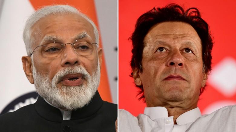Indian Prime Minister Narendra Modi and Pakistan Prime Minister Imran Khan.