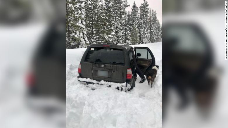 The Toyota 4Runner Jeremy Taylor was stuck in for 5 days.