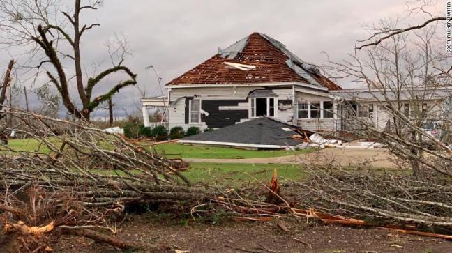 A series of devastating tornadoes cut through Alabama Sunday night.