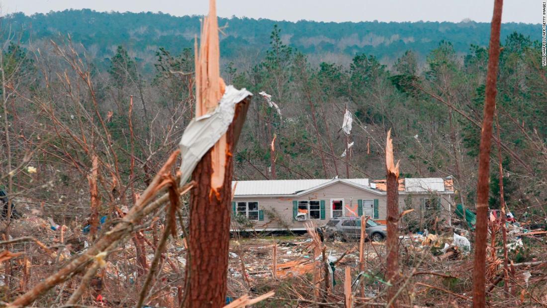 Trees in Beauregard were snapped like twigs.