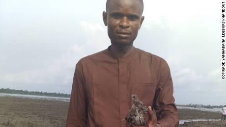 Legborsi shows a polluted land in Gokana in Bayelsa State