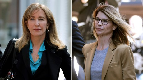 Felicity Huffman and Lori Loughlin are dealing with college cheating scandal in different ways