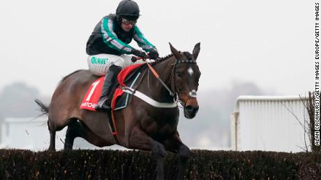 Altior, Matthews' hero, racing at Cheltenham in January 2019.