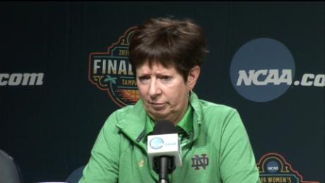 Muffet McGraw: & # 39; We don't have enough women in power, & # 39; says head coach of Notre Dame