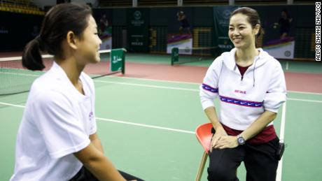 Li Na's grand slam breakthrough at the 2011 French Open led to a tennis revolution in China, which has invested heavily in growing the game both on a grass-roots and elite level. Here Li is talking to one of China's top junior players in March in Beijing.