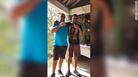 Carter Warrington, left, met Orlando Moore at the resort where they were both staying.
