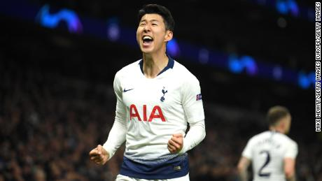 Son scored the winning goal in his side's 1-0 victory over Manchester City in the quarterfinal first leg.