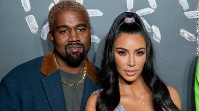Kanye West and Kim Kardashian West in 2018.