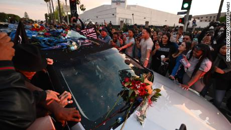 Dance-offs, tears and tributes as rapper Nipsey Hussle takes one final tour