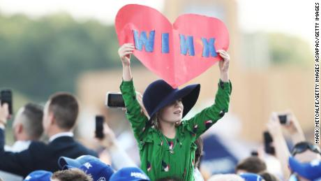 Winx fans show their support during the Queen Elizabeth Stakes.