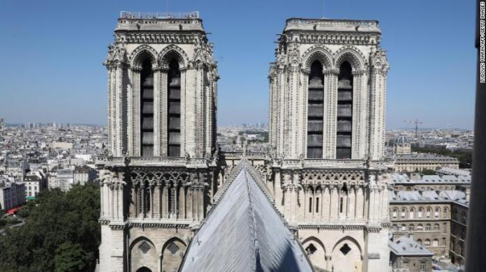 The cathedral's bell towers