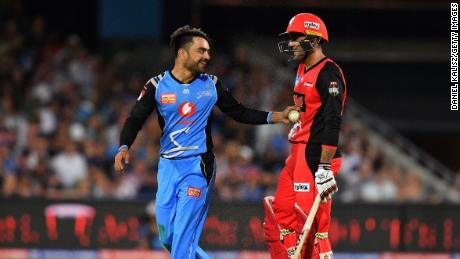 The sight of Rashid (left) and Nabi (right) dominating games in the Big Bash is an image that -- until recently -- was, quite simply, unimaginable.