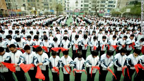 Students attend a celebration of China's Youth Day at Nanchang Middle School on May 4, 2011 in Shenyang, Liaoning Province of China.