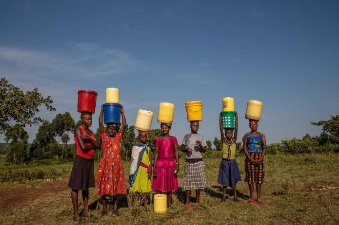 A group of women and girls fetching water in Kitawasi.