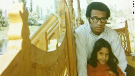 Sakina Jaffrey with her adoptive father, violinist Sanford Allen, in Kashmir.