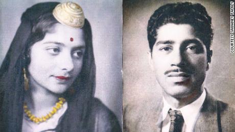 Wedding portraits of Nitin Sawhney's parents.
