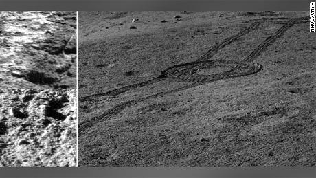 The landing site for Chang'e-4.