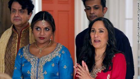 """Mindy Kaling as Mindy Lahiri, Sakina Jaffrey as Sonu Lahiri in the US TV series """"The Mindy Project""""."""