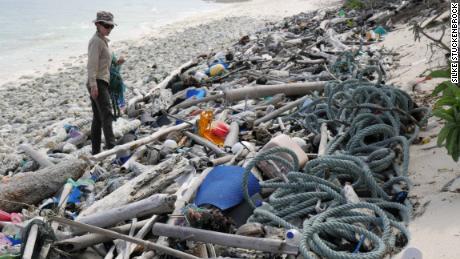Plastic found on Cocos (Keeling) Island