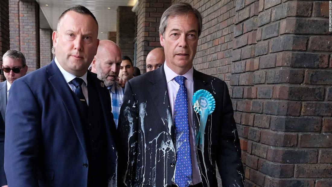 Man Who Threw Milkshake At Nigel Farage Sentenced Cnn