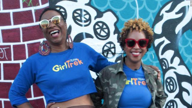 T. Morgan Dixon, left, and Vanessa Garrison founded GirlTrek.