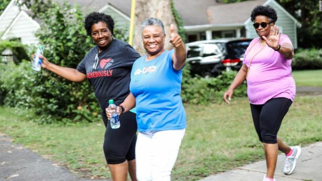 Walkers in Charlotte, North Carolina want to be role models.