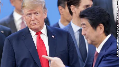 Sumo, golf and barbeque: Trump and Abe bond after a tweet underscored divides