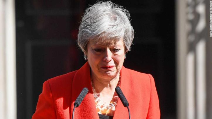 Image result for three tumultuous Downing Street years Theresa May bowed out after nearly three years as prime minister on Friday, defeated by her inability to deliver Brexit.