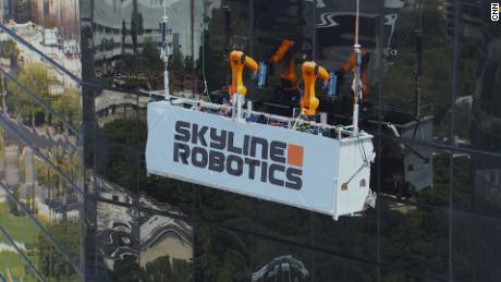 Robots find a new job: Skyscraper window washers