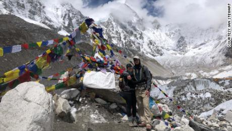 Ian and his wife, Katie, at Everest base camp